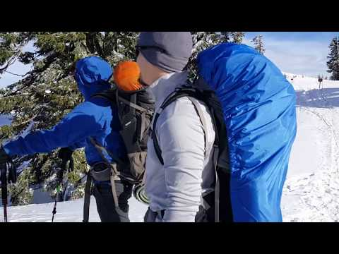 Crater Lake Snow Cave Backpacking Adventure