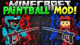 getlinkyoutube.com-Minecraft | PAINTBALL MOD!!! | Guns, Bases, and MORE!! | Mod Showcase [1.8]