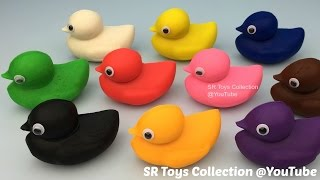 getlinkyoutube.com-Playdough Ducks Surprise Toys Hello Kitty Paw Patrol Twozies Cookie Cutters Minion Butterfly Molds