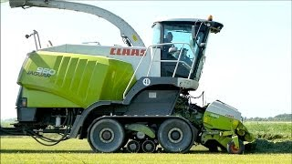 getlinkyoutube.com-Claas Jaguar 960 Terra Trac | Bunker forage harvester - Lucerne Harvest - Hartog Abbekerk