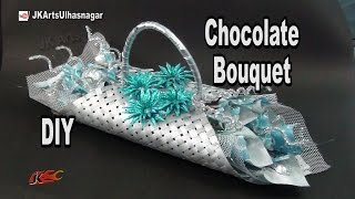 getlinkyoutube.com-DIY Chocolate Bouquet |  Chocolate making to bouquet | How to make | JK Arts 978