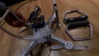 getlinkyoutube.com-upgrade landing gear cheerson cx20, quanum nova     update landingsgestel quadcopter