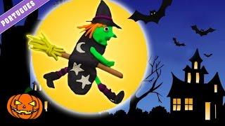 getlinkyoutube.com-Play Doh – Witch | Bruja de Plastilina | Halloween Play Doh Witch (How To) - Spanish |