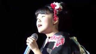getlinkyoutube.com-堀優衣(15歳中三) 『海鳴りの詩』島津亜矢 Yui Hori fifteen Japanese KIMONO girl AMAZING! /Uminari no Uta