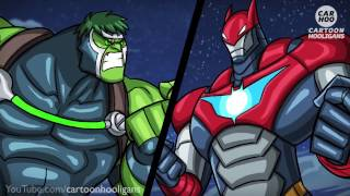 getlinkyoutube.com-BANE x HULK vs IRONMAN x BATMAN [ Marvel & DC Superheroes Parody ]