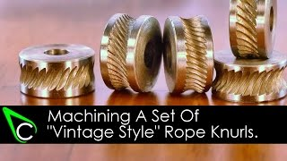 getlinkyoutube.com-Home Machine Shop Tool Making - Machining A Set Of Vintage Style Rope Knurls