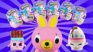 getlinkyoutube.com-Stop Motion Easter Bunny Delivers Easter Basket SHOPKINS Toys