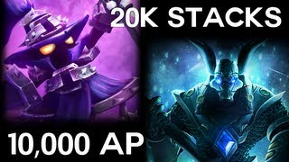 getlinkyoutube.com-Veigar Highest AP 10,000 Record, 18k Stacks Nasus, 9 Hour game, 12,000 CS - League Of Legends