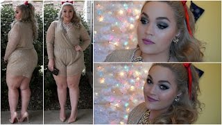 getlinkyoutube.com-Holiday Get Ready With Me | Makeup, Hair & Outfit!