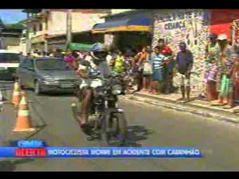Morte acidente moto Pirajá   16 07 2014   reporter Guilherme Santos   Cidade Alerta BA