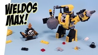 getlinkyoutube.com-LEGO Mixels Series 6 Weldos Max Kramm Forx & Wuzzo King Nixel Opening Build Review