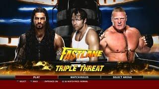 getlinkyoutube.com-WWE 2K16 PS3 Gameplay - Dean Ambrose VS Roman Reighs VS Brock Lesnar at Fast Lane 2016 [FullHD]