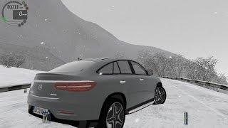 getlinkyoutube.com-City Car Driving 1.5.3 Mercedes GLE 450 AMG Coupe SNOW [G27]