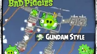 getlinkyoutube.com-Bad Piggies Gundam Style Mecha Aerobatics ( PIGineering Fat Man Mk 6 )