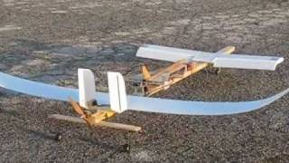 getlinkyoutube.com-RC Canard Plane with Glider Launcher