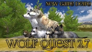 getlinkyoutube.com-New Wolf Quest Game Demo!! || Wolf Quest 2.7 Demo
