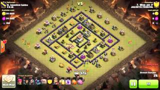 getlinkyoutube.com-Clash of clans maxd th8 war attack 3 stars GOWIPE, low lvl golem, square base