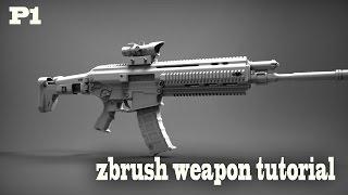 getlinkyoutube.com-Zbrush Weapon Tutorial
