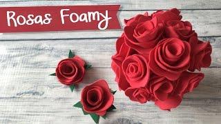 getlinkyoutube.com-Rosas mini de Foamy Goma Eva :: Bouquet de Rosas