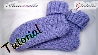 getlinkyoutube.com-Tutorial scarpe da notte ai ferri | How to knit socks
