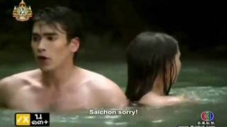 getlinkyoutube.com-[Engsub] Nadech Yaya in Game rai game ruk ''Saichon NangFah scenes at waterfall""