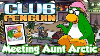 getlinkyoutube.com-Club Penguin Meeting Aunt Arctic/Visiting Aunt Arctic's Igloo (Hollywood Party 2013)