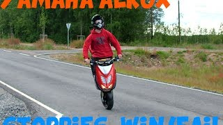 getlinkyoutube.com-Yamaha Aerox Epic Stoppies Fail/Win/Crash/Wypadki #2