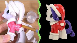 Xmas Special! CUSTOM My Little Pony RARITY Tutorial MLP Toy DIY | SweetTreatsPonies