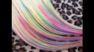 getlinkyoutube.com-Diy:como pintar o cabelo. com giz de cera normal