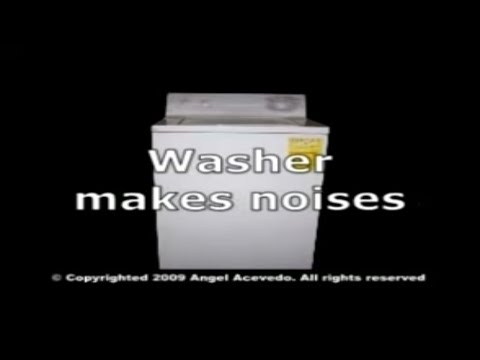 GE front serviceable washer makes noises