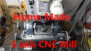 getlinkyoutube.com-Home made 5 axis CNC mill. vol.2