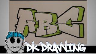 getlinkyoutube.com-How to draw graffiti  - Graffiti Letters ABC step by step