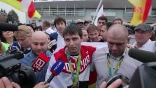 getlinkyoutube.com-Сослана Рамонова и Хетага Гозюмова встретили на родине в Осетии