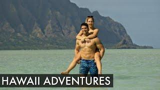 getlinkyoutube.com-SWIMMING WITH SHARKS & SLEEPING ON A TREE | Hawaii Vlog #1