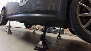Put MINI Cooper on 4 Jackstands the Easy Way R50-R53-R55-R56 Howto