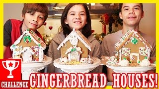 getlinkyoutube.com-GINGERBREAD HOUSE CHALLENGE | KITTIESMAMA