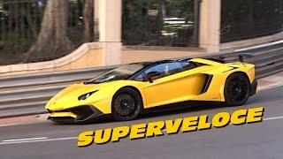 getlinkyoutube.com-Lamborghini Aventador SV Roadster Sound & Acceleration in MONACO