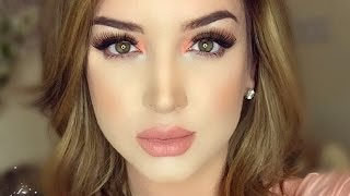 getlinkyoutube.com-Smokey & Peachy | Makeup Tutorial ♡