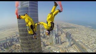 getlinkyoutube.com-Burj Khalifa Pinnacle BASE Jump - 4K