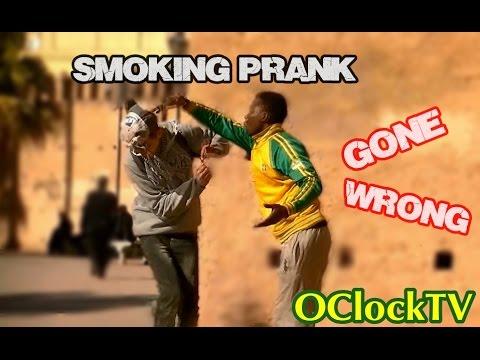 Smoking kills Prank! (Gone Wrong) - آخر وسيلة لمحاربة التدخين |OClockTV