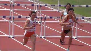 getlinkyoutube.com-日本陸上混成競技2016 女子七種100mH3組