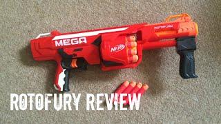 getlinkyoutube.com-Nerf N-Strike Elite MEGA RotoFury Unboxing, Review & Range Test
