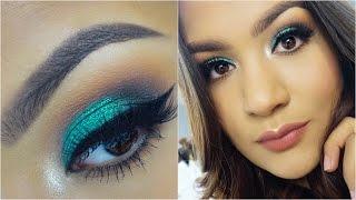 getlinkyoutube.com-Maquillaje Verde Turquesa | AbrilDoesMakeup ♡