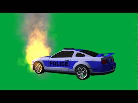"""police car on fire"" free green screen effects - bestgreenscreen -iDm3yI8RYQE"