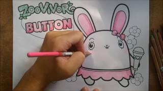 getlinkyoutube.com-ระบายสี | การ์ตูน กระต่าย BUTTON จาก Zoovivor | วาดการ์ตูน กันเถอะ