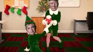 getlinkyoutube.com-Donald Trump Hillary Clinton Elf Yourself Happy Election Day