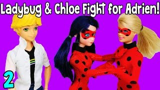 getlinkyoutube.com-Ladybug vs Ladybug Marinette Asks Adrien Out! Miraculous Ladybug Doll Episode Part 2