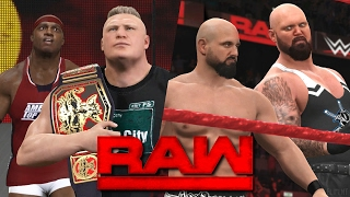 getlinkyoutube.com-WWE RAW 2K17 Story - Brock Lesnar Confronts Lashley 💥 | 02/20/17