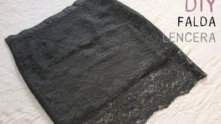 getlinkyoutube.com-DIY Cómo hacer falda lencera o falda de encaje (patrones de falda base)