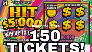 getlinkyoutube.com-FULL PACK! 150X HIT $5,000 Texas Lottery Scratch